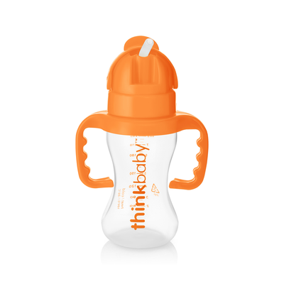 The Thinkster Straw Bottle (9oz) - Orange