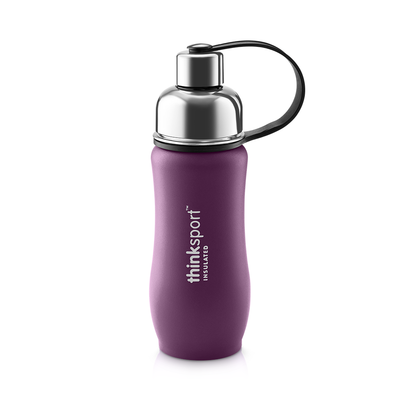 Thinksport Insulated Sports Bottle - 12oz (350ml) - Powder Coated - Purple