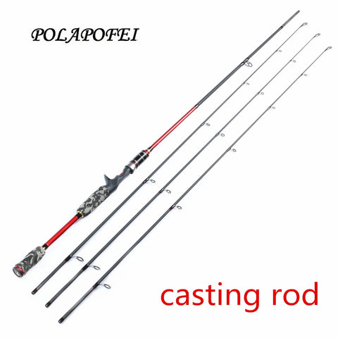 POLAPOFEI 2.1m 3 Tips Carbon Fishing Rod Spinning Rod Casting Rods Fishing Tackle Baitcasting Pole Carp Feeder Olta Peche E265