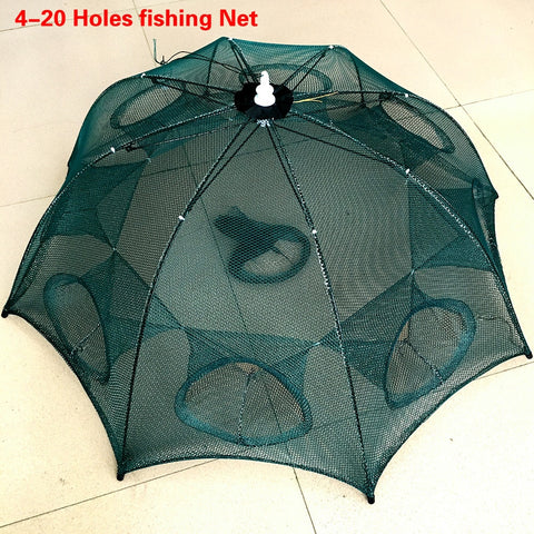 Automatic Fishing Net Shrimp Cage Nylon Foldable Crab Fish Trap