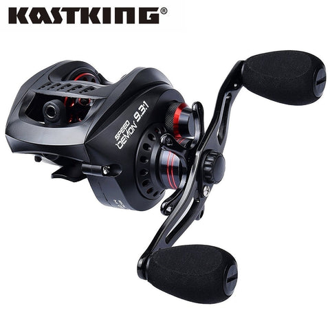 Baitcasting Fishing Reel Gear Ratio 9.3:1 Fastest Baitcaster Reels Magnetic Brake System Fishing Lure