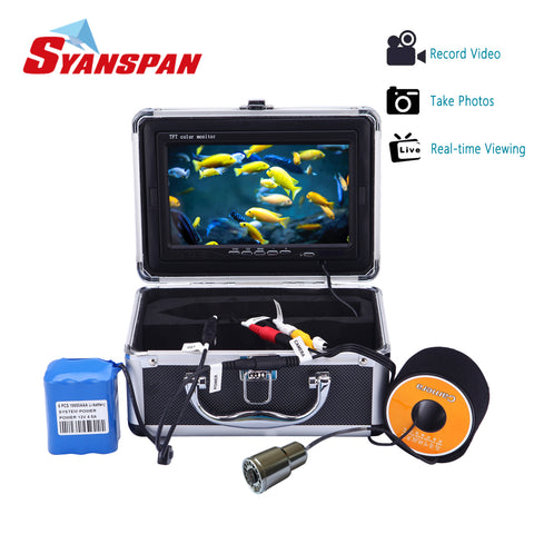"7"" Fish Finder IP68 HD 1000TVL Recording Edition  Underwater Fishing Video Camera"