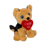 Valentine German Shepherd Mini Plush