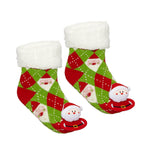 Messy Moose Polar Fleece Socks Santa