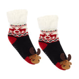 Messy Moose Polar Fleece Socks Reindeer / Moose