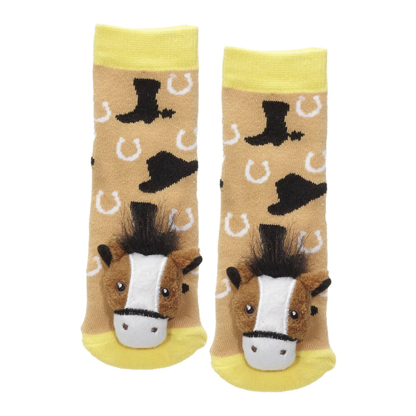 Messy Moose Socks, Brown Horse