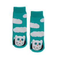 Messy Moose Socks, Blue and White Owl