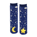 Messy Moose Socks, Moon & Star Mismatch