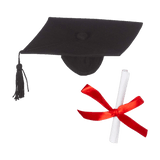 Graduation Hat & Diploma Set