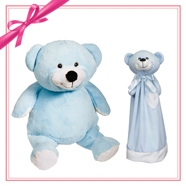 Gift Set - Mister Buddy Bear & Blankey - Blue
