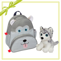 Gift Set - Husky Backpack & Mini Plush