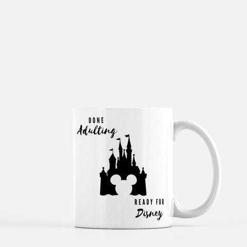 Disney Done Adulting Mug