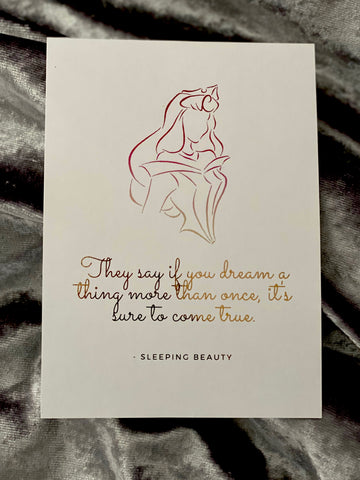 Sleeping Beauty Foil Art Print