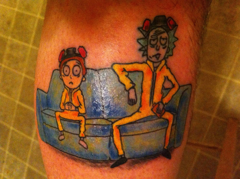 This RICK and Morty Tattos came out REALLY BAD!