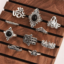 10 pçs/set Vintage Gothic Ring