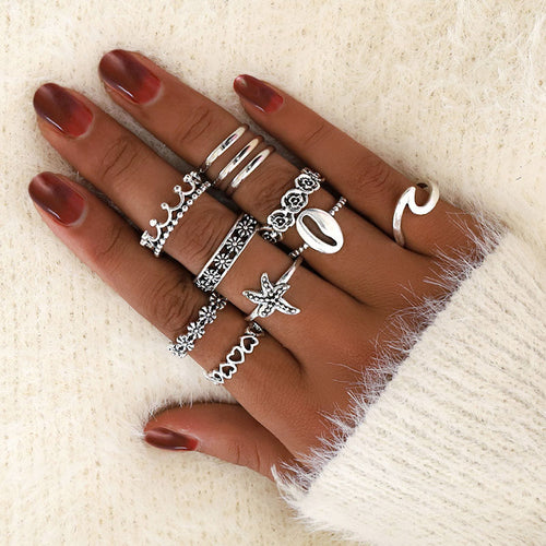 Shell Love Ring Set