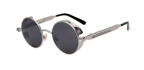 Round Metal Sunglasses Steampunk Style