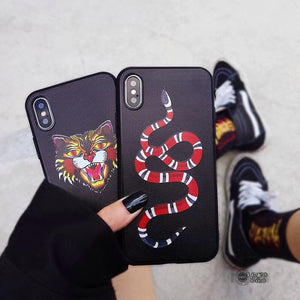 Tiger Snake Soft Silicon Case for iphone