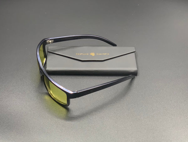Unique pieces, factory prototypes. Casanova Sunglasses Black-Yellow