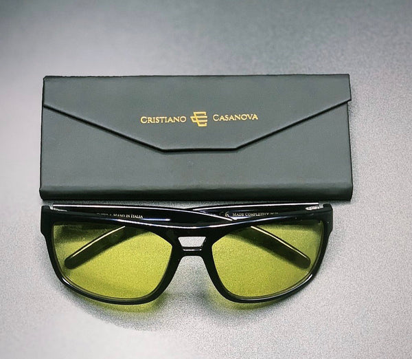 Limited Edition Venezia Sunglasses Black-Yellow