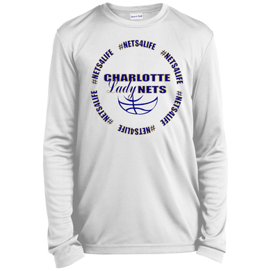 NETS LadyNETS4Life Youth LS Moisture-Wicking T-Shirt - White