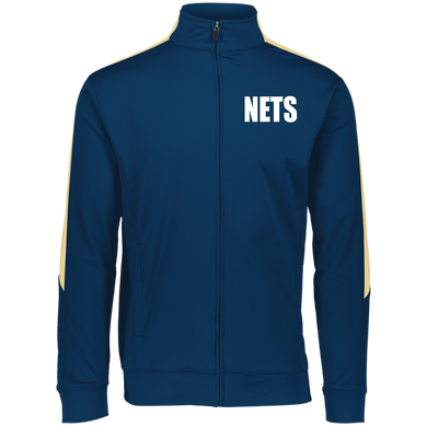 NETS BOLD WL Youth Warm-Up Jacket - Navy