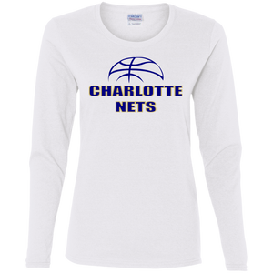 NETS Ball Ladies' LS T-Shirt - White