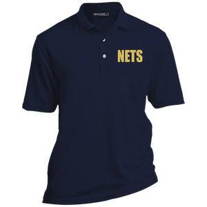 NETS BOLD GL Tall Poly Polo - Navy