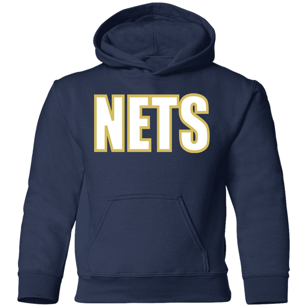 NETS BOLD WGL Toddler Hoodie - Navy