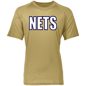 NETS BOLD WBL Youth Raglan Wicking T-Shirt - Vegas Gold
