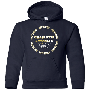 NETS LadyNETS4Life Youth Hoodie - Navy