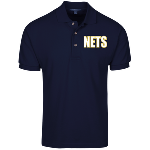 NETS BOLD WGL Cotton Polo - Navy