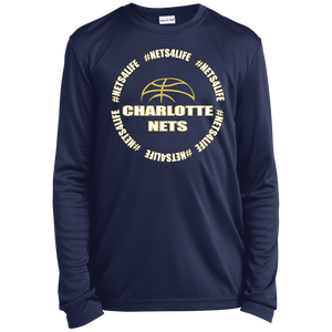NETS4LIFE Navy Youth LS Moisture-Wicking T-Shirt
