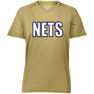 NETS BOLD WBL Ladies Raglan Wicking T-Shirt - Vegas Gold
