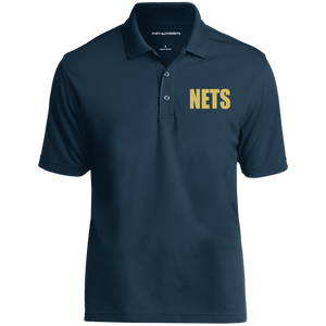 NETS BOLD GL Poly Polo - Navy