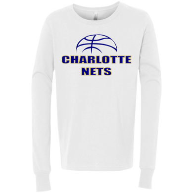 NETS Youth LS T-Shirt - White