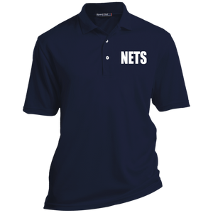 NETS BOLD WL Tall Poly Polo - Navy