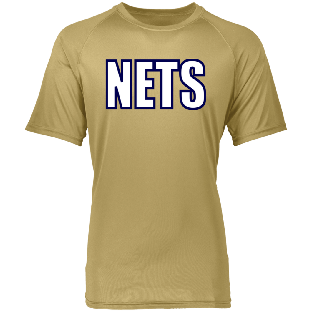 NETS BOLD WBL Raglan Wicking T-Shirt - Vegas Gold