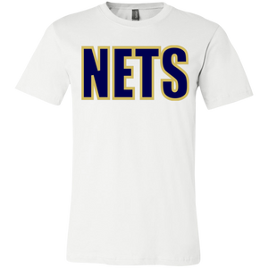NETS BOLD BGL Youth 4.2oz Short Sleeve T-Shirt - White