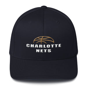 NETS Ball Navy Structured Twill Cap