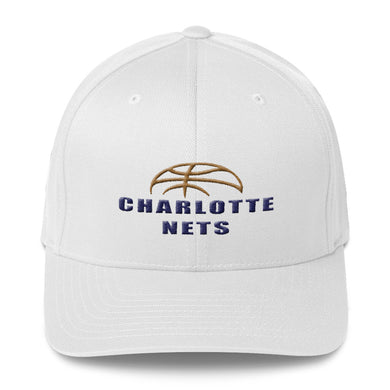 NETS Ball White Structured Twill Cap