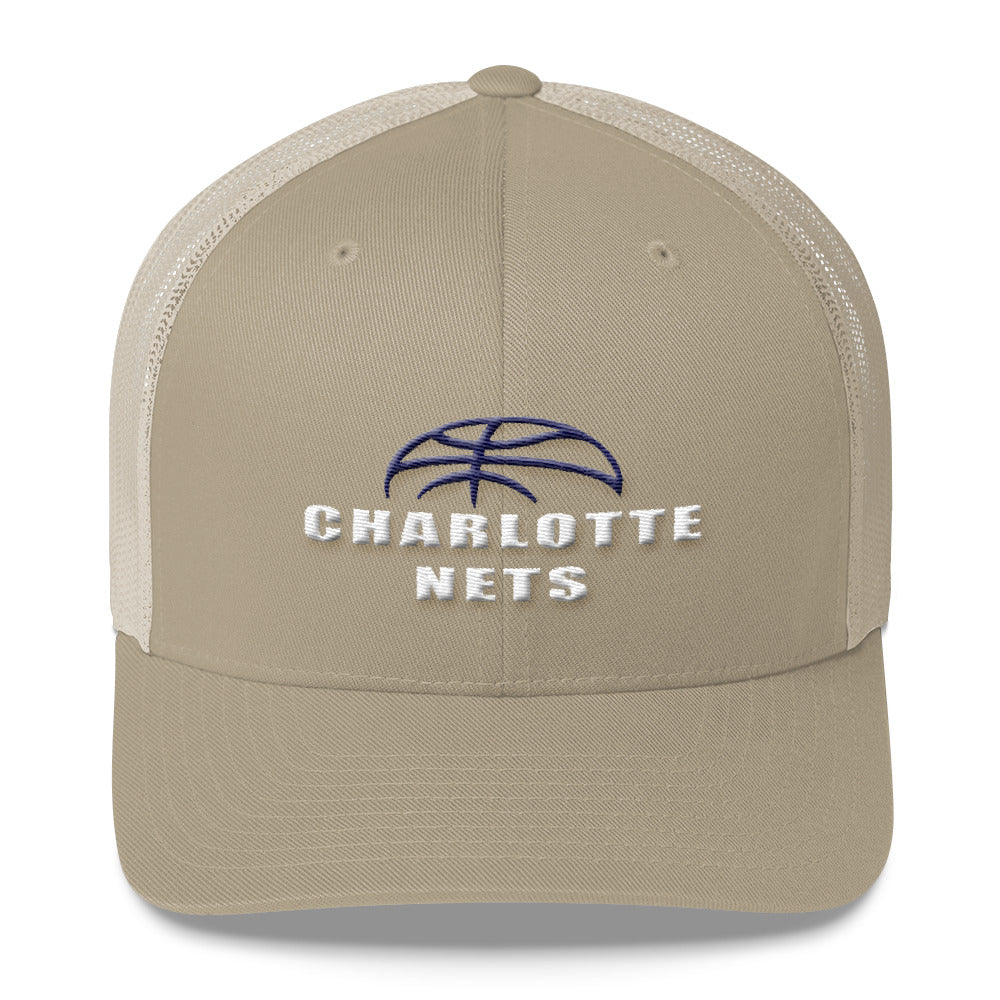 NETS Ball Khaki Trucker Cap