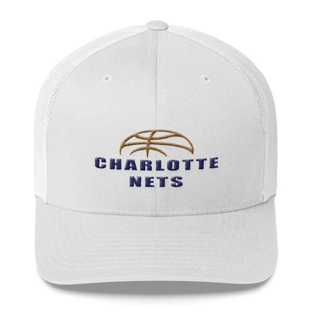 NETS Ball White Trucker Cap