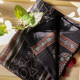 Ajrakh Stole: Traditional, trendy, and signature