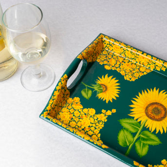Sunflower Meadow – Papier Mache Tray