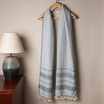 Songs of the surf: Handwoven cotton stole