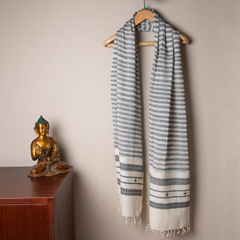 Isle of Calm: Handwoven cotton stole