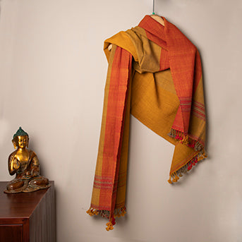 Warm poetry: Handwoven stole in wool