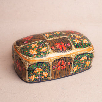 Rumi Miniature Treasure Chest: Handmade Papier-Mâché box