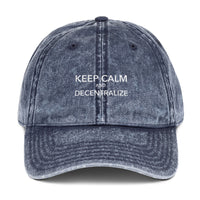 Keep Calm and Decentralize Embroidered Hat